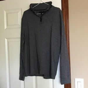 Banana Republic 1/4 Zip Mens Pullover Larger Gray